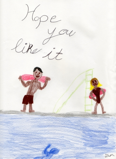 Aja's drawing, GAG poetry reading flickr large 1024