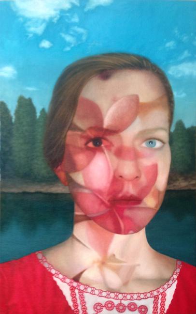 """J. Adam McGalliard, """"Pink Magnolias,"""" Oil on Linen"""